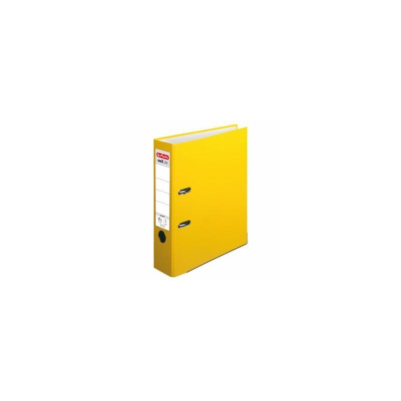 Herlitz Ordner A4 · breit (8cm)  · maX.file protect · gelb