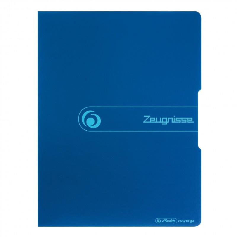 Herlitz Zeugnismappe A4 · 20 Hüllen · blau