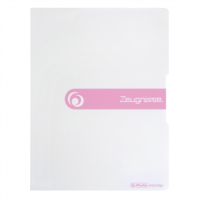 Herlitz Zeugnismappe A4 · 20 Hüllen · weiß