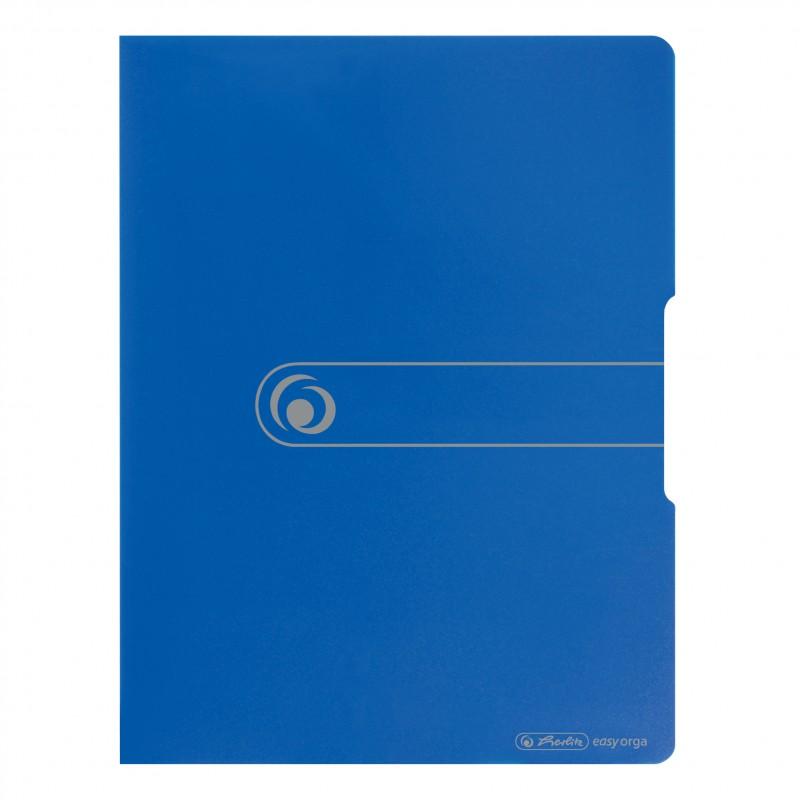 Herlitz Sichtbuch A4 · 20 Hüllen PP-Kunststoff · easy orga to go · blau