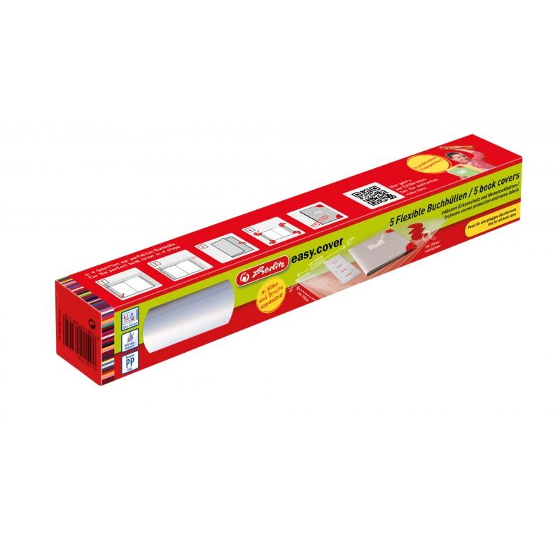 Herlitz Buchhülle easy.cover · alle Buchformate bis 330mm x 540mm · 5 Stück