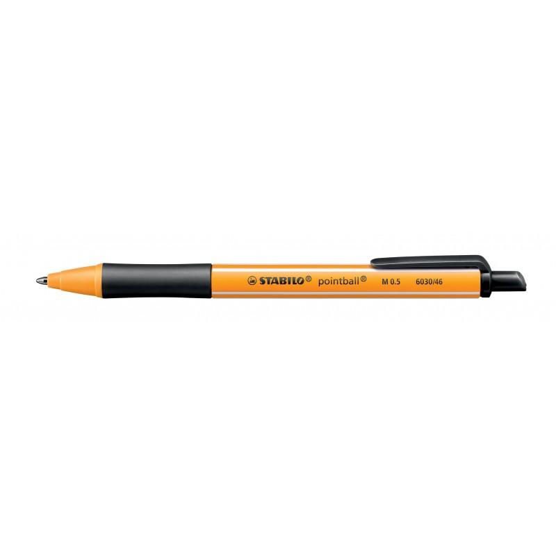 STABILO® Kugelschreiber STABILO® pointball® · Druckmechanik · 0,5 mm · schwarz