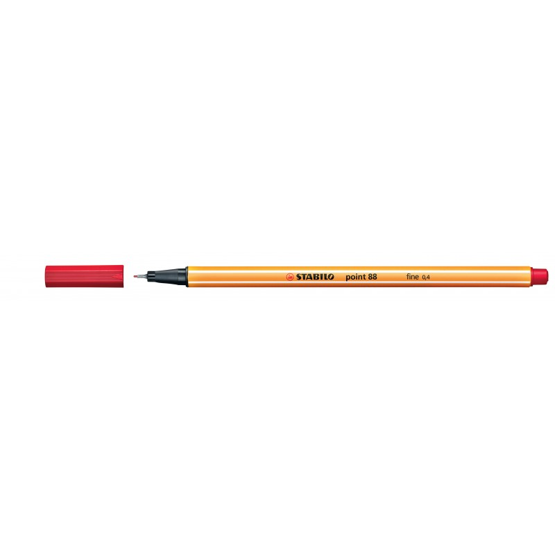 STABILO® Fineliner STABILO® point 88® · 0,4 mm · rot