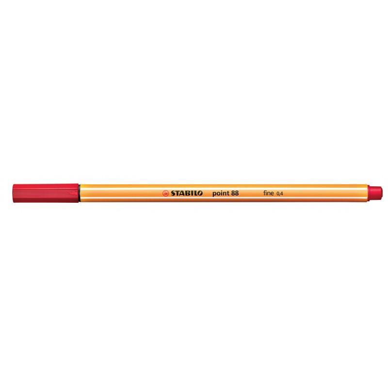 STABILO® Fineliner STABILO® point 88® · 0,4 mm · rot