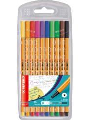 STABILO® Fineliner STABILO® point 88® Etui mit 10 Stiften