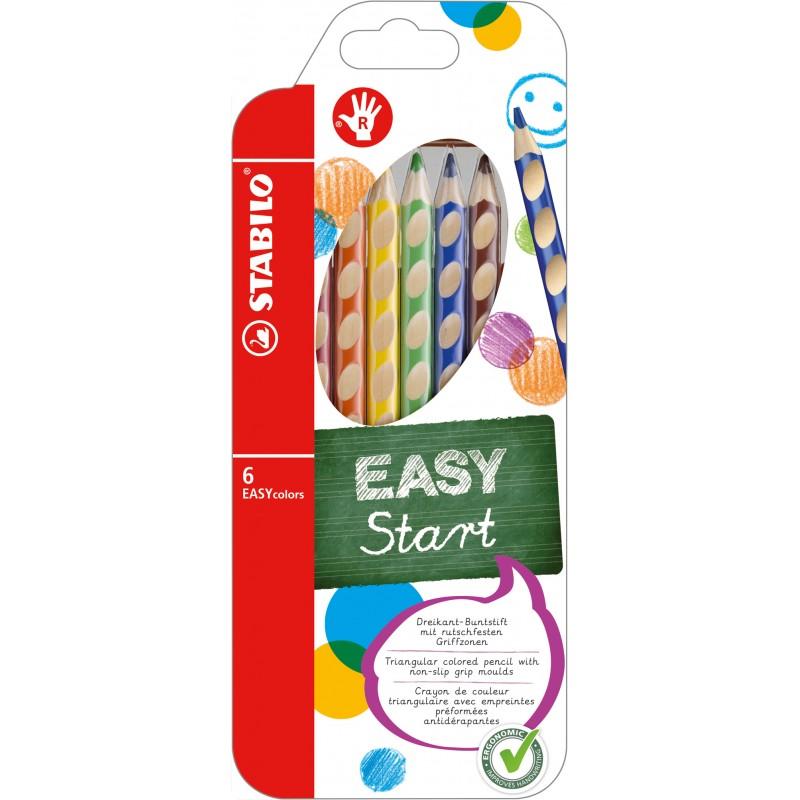 STABILO® Ergonomischer Dreikant-Buntstift STABILO® EASYcolors · 6er Etui · Rechts-/Linkshänder