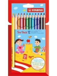 STABILO® Dreikant-Buntstift STABILO® Trio® dick · Kartonetui mit 12 Stiften
