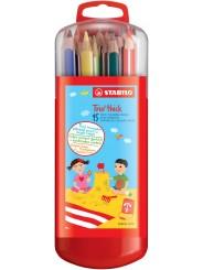 STABILO® Dreikant-Buntstift STABILO® Trio® dick · Kunststoffetui mit 15 Stiften