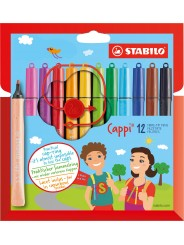 STABILO® Filzstift mit Kappenring STABILO® Cappi® · Kartonetui mit 12 Stiften