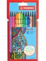 STABILO® Premium-Filzstift STABILO® Pen 68 · Kartonetui mit 12 Farben