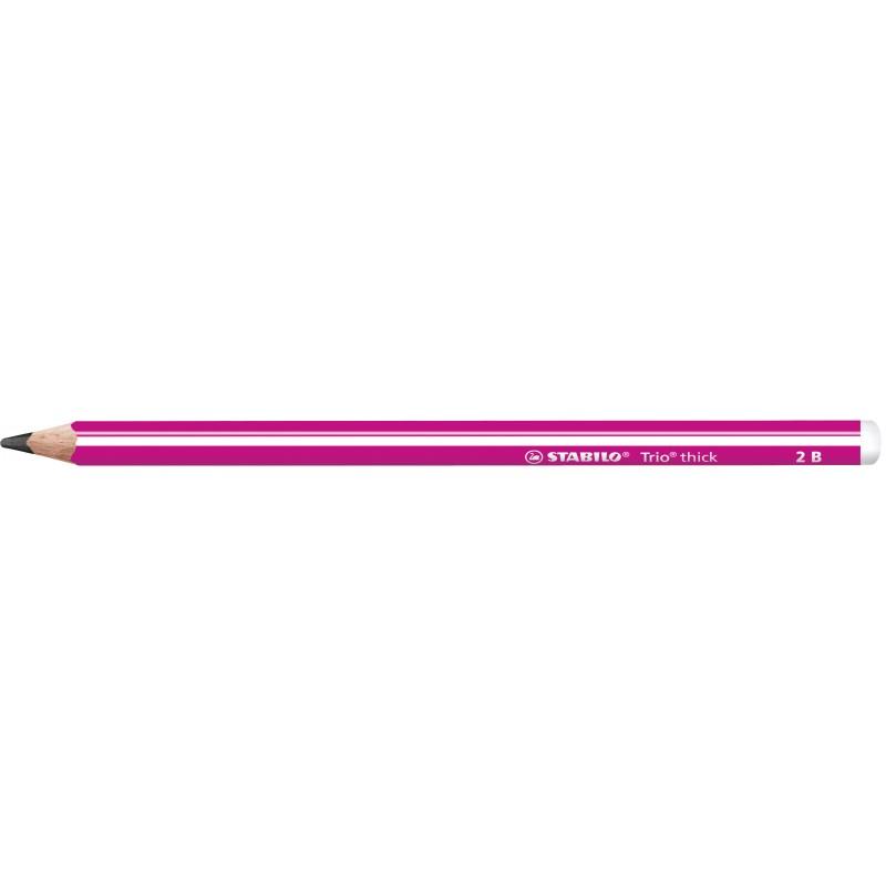 STABILO® Dreikant-Schulbleistift STABILO® Trio® dick · 2B · pink
