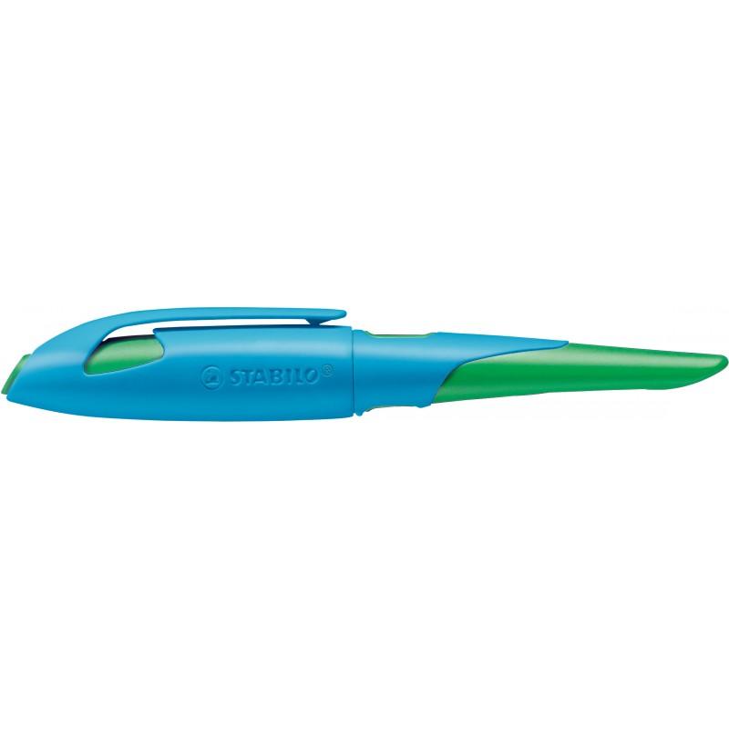 STABILO® Ergonomischer Schulfüller STABILO® EASYbirdy · Feder A · himmelblau/grasgrün · Rechts-/Linkshänder