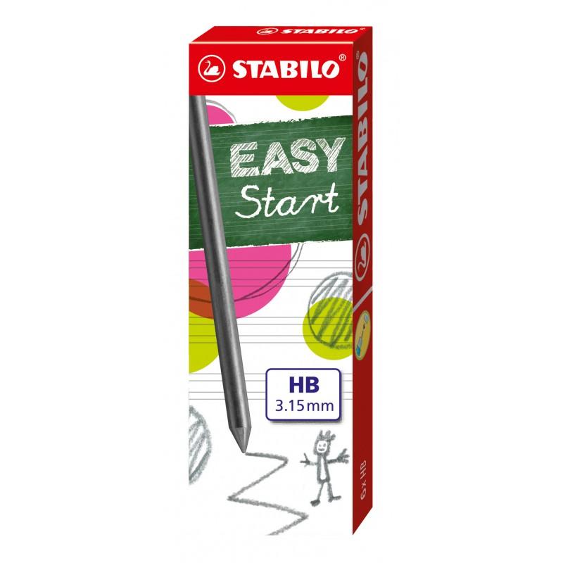 STABILO® Nachfüllminen STABILO® EASYergo 3.15 · HB · Faltschachtel mit 6 Minen