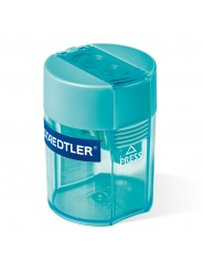 STAEDTLER® Doppel-Spitzdose · 8 ·2 mm Ø (dünn) · 10 ·2 mm Ø (dick) · cyan