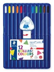 STAEDTLER® Buntstifte ergo soft® jumbo Farbstift · 4 mm · aufstellbare Box mit 12 Farben