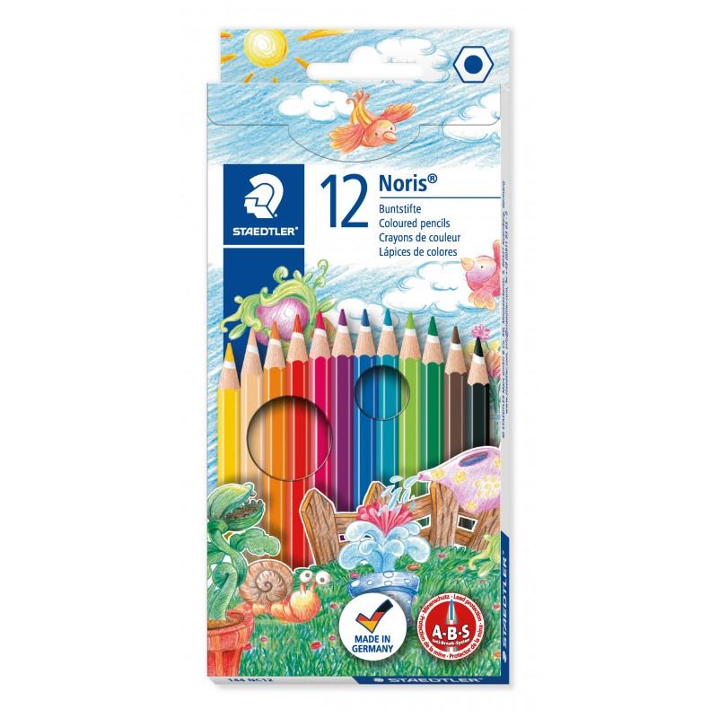 STAEDTLER® Buntstifte Noris Club® 144 NC12 · 3 mm · Kartonetui mit 12 Farben