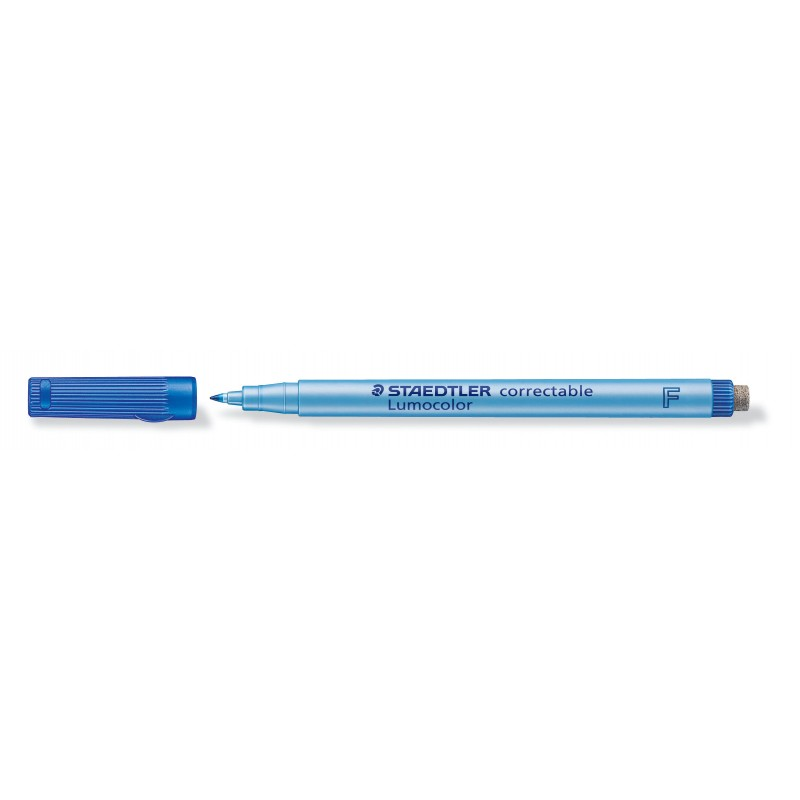 STAEDTLER® Folienstift Lumocolor correctable · F-Spitze ca. 0 ·6 mm · blau