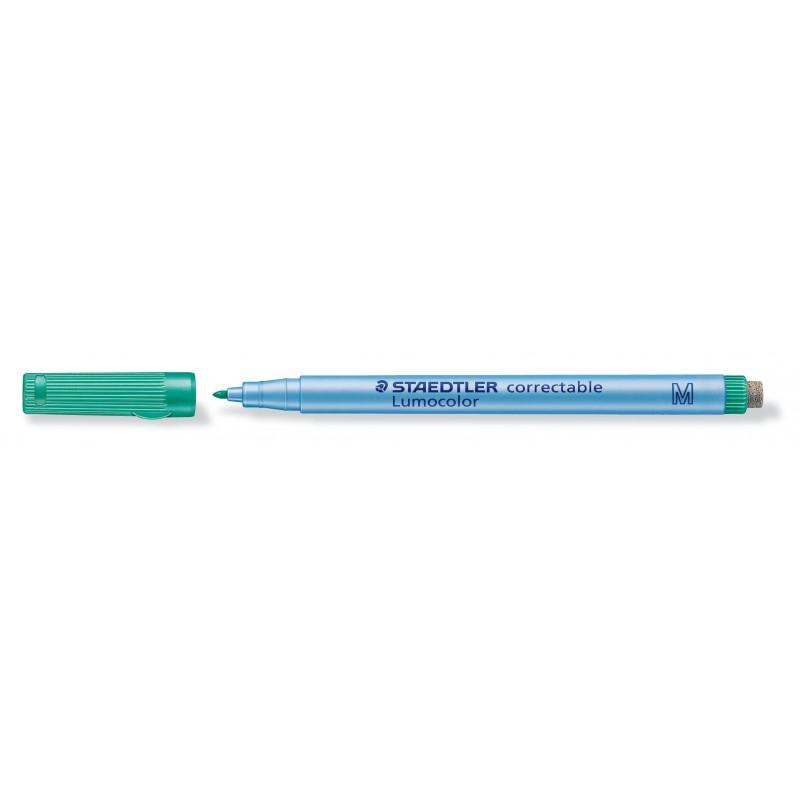 STAEDTLER® Folienstift Lumocolor correctable · M-Spitze ca. 1 ·0 mm · grün