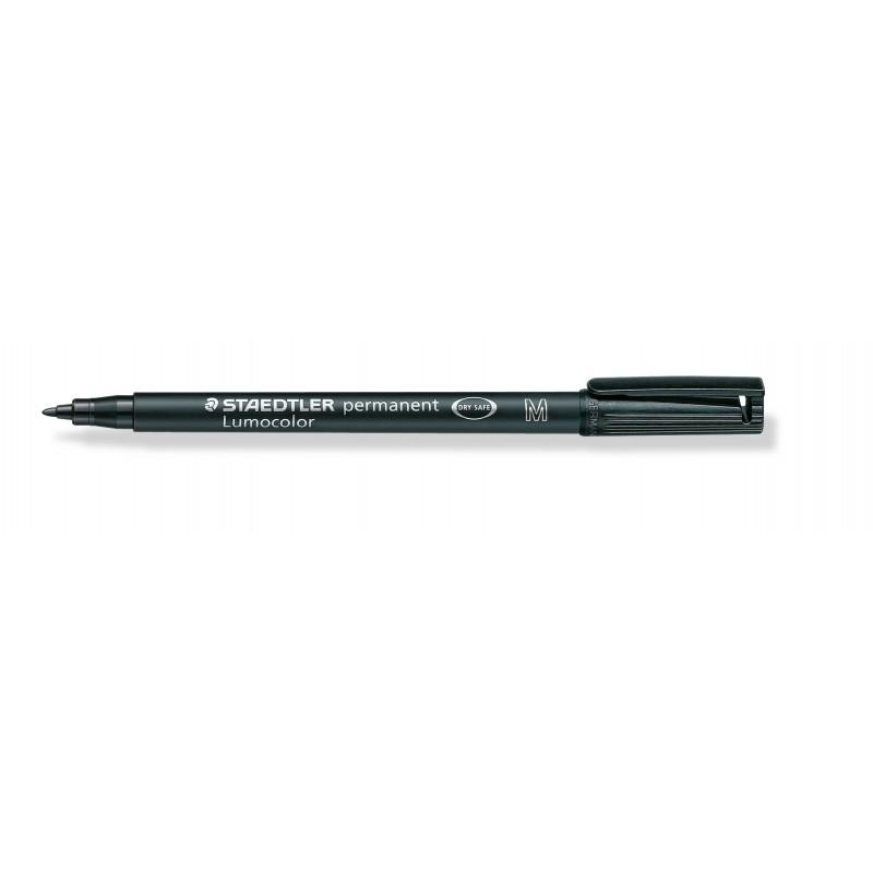 STAEDTLER® Permanentschreiber Lumocolor permanent · mittlere M-Spitze ca. 1 ·0 mm · schwarz