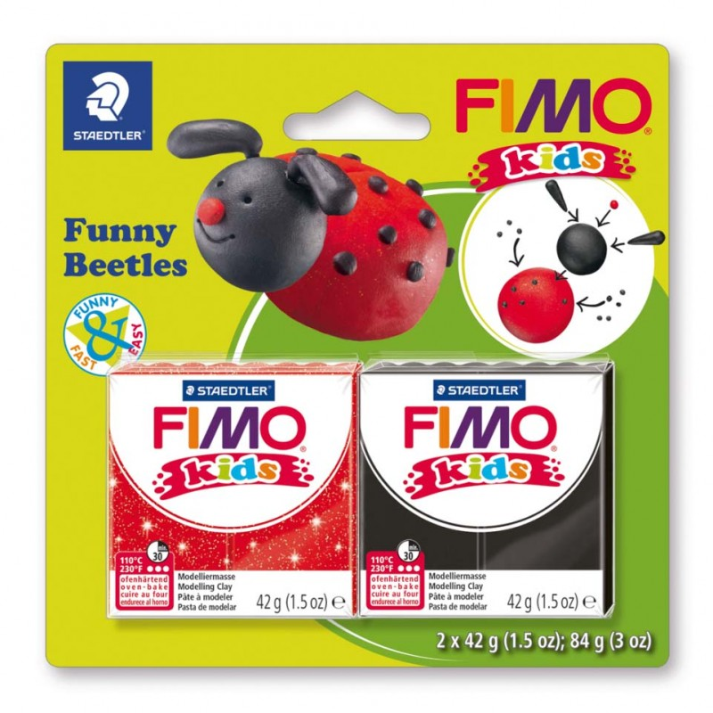 STAEDTLER® Modelliermasse FIMO® Kids funny beetles kit