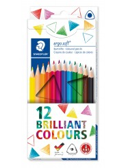 STAEDTLER® Buntstifte ergo soft®  3 mm · Kartonetui mit 12 Farben