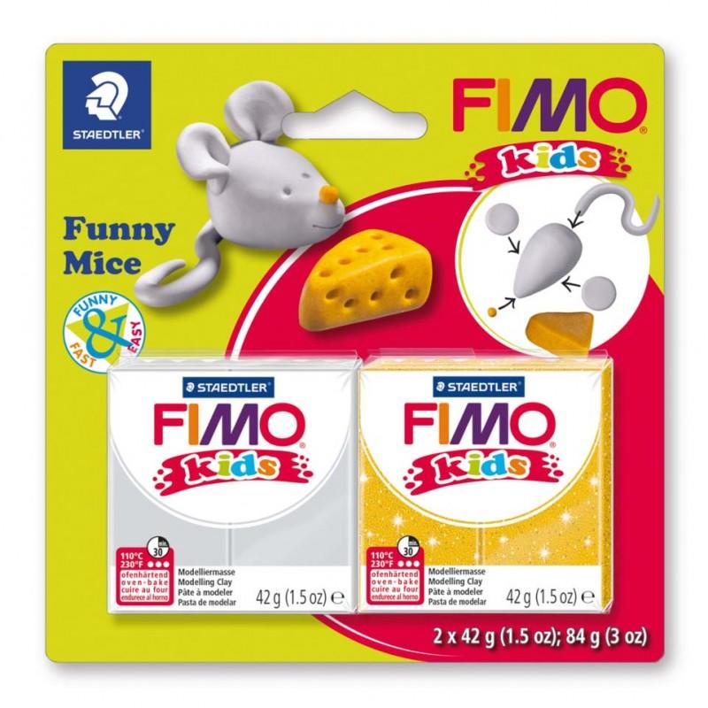 STAEDTLER® Modelliermasse FIMO® Kids funny mice kit Blisterkarte