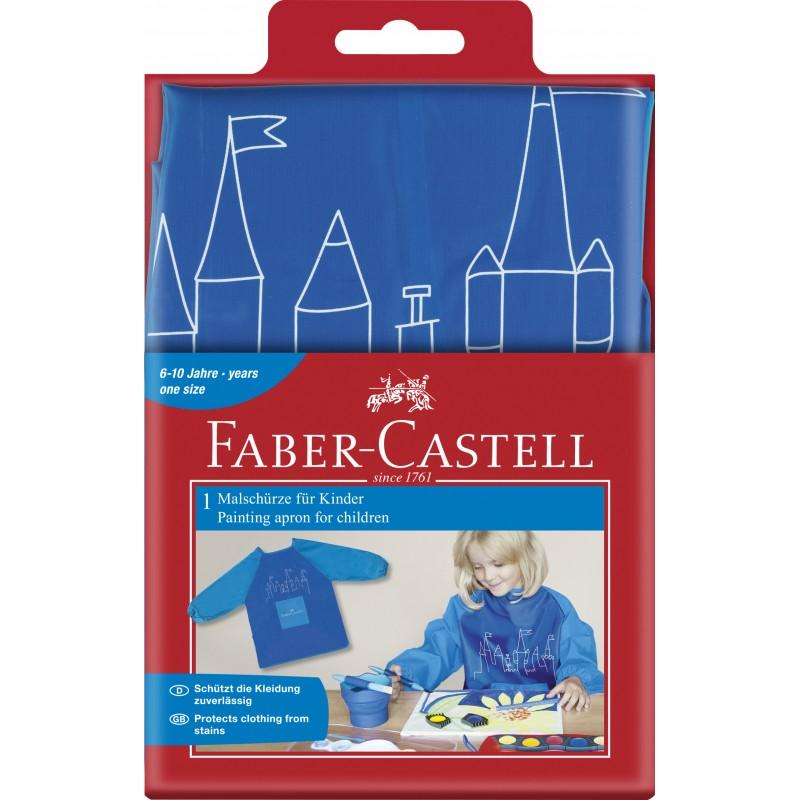 Faber-Castell Malschürze für Kinder blau