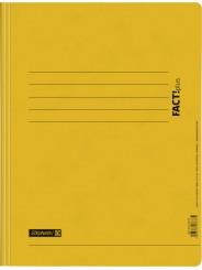 BRUNNEN Schnellhefter · DIN · A4 FACT!plus · Pappe extrastark 375g/m² · gelb