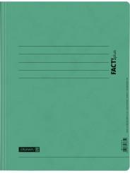 BRUNNEN Schnellhefter · DIN · A4 FACT!plus · Pappe extrastark 375g/m² · grün