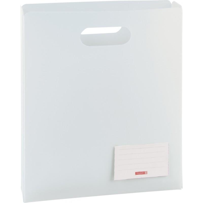 BRUNNEN Heftbox für DIN A4 · offen · transzulente PP-Folie · weiß