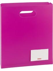 BRUNNEN Heftbox für DIN A4 · offen · transzulente PP-Folie · pink