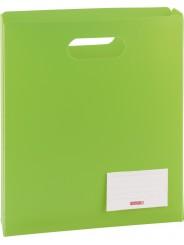 BRUNNEN Heftbox für DIN A4 · offen · transzulente PP-Folie · grün
