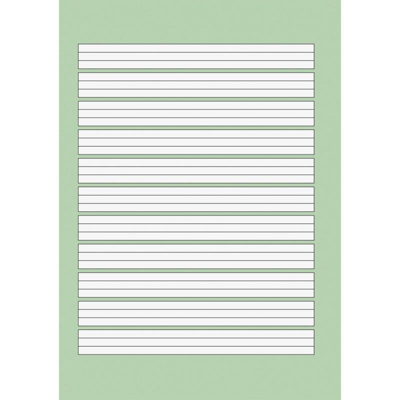 BRUNNEN Schulblock A5 · Lineatur 1 · kopfverleimt · gelocht · 80 g/m² · 50 Blatt - Motiv zufällig