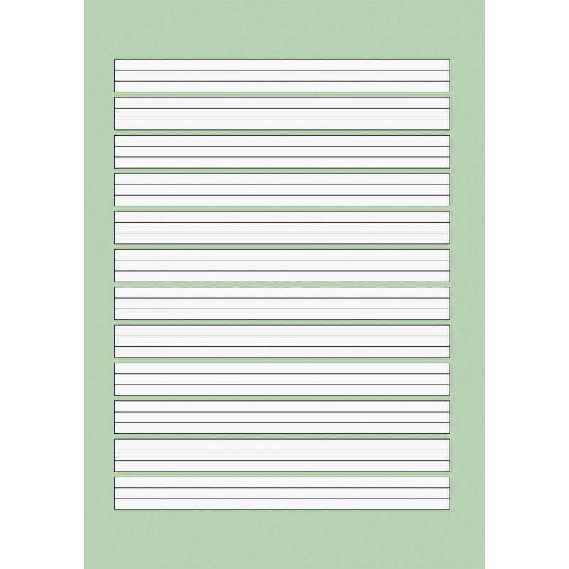 BRUNNEN Schulblock A5 · Lineatur 2 · kopfverleimt · gelocht · 80 g/m² · 50 Blatt - Motiv zufällig
