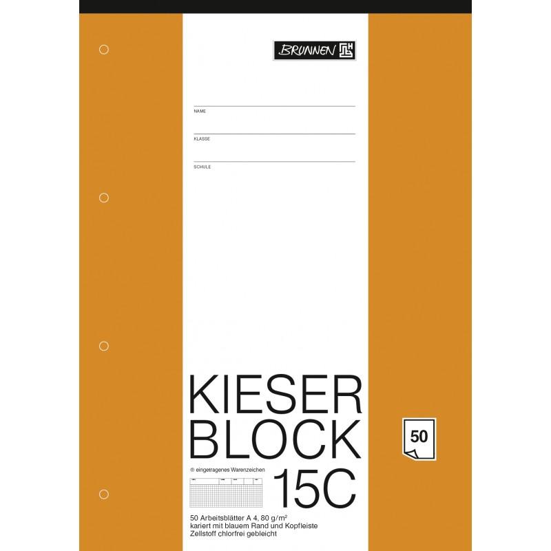 BRUNNEN Kieserblock 15C · kariert · 50Bl