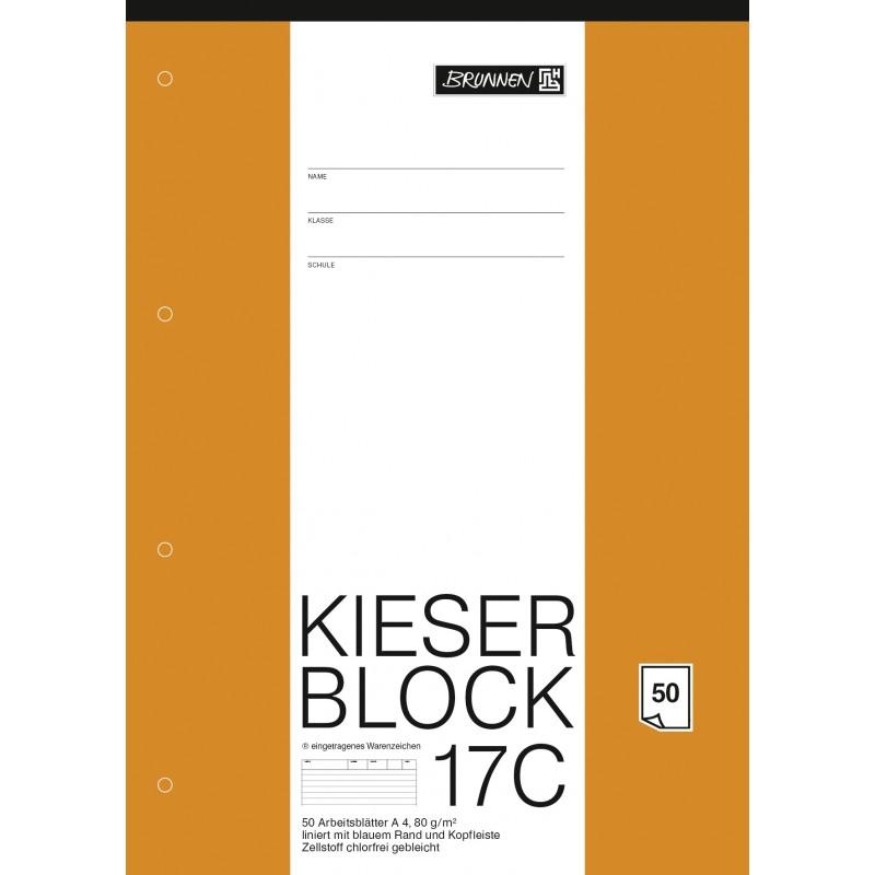 BRUNNEN Kieserblock 17C · liniert · 50Bl