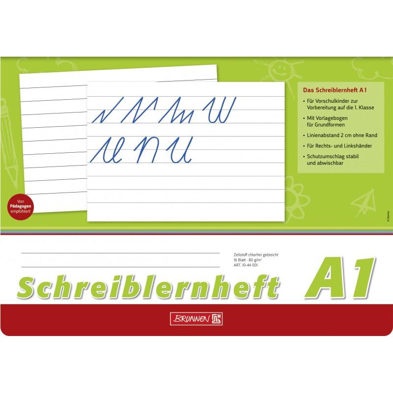 BRUNNEN Schreiblernheft · DIN A4 quer · Lineatur A1