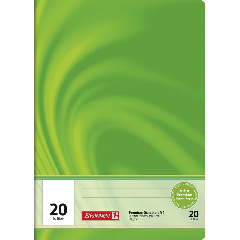 BRUNNEN Schulheft · DIN A4 · Vivendi · Lineatur 20   · 90 g/m² · 16 Blatt