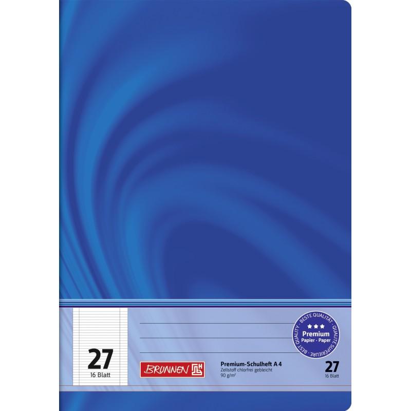 BRUNNEN Schulheft · DIN A4 · Vivendi · Lineatur 27   · 90 g/m² · 16 Blatt