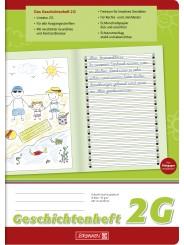 BRUNNEN Geschichtenheft A4 · Lineatur 2G · 80 g/m² · 16 Blatt