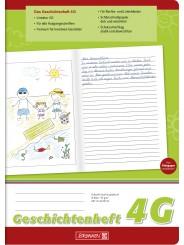 BRUNNEN Geschichtenheft A4 · Lineatur 4G · 80 g/m² · 16 Blatt
