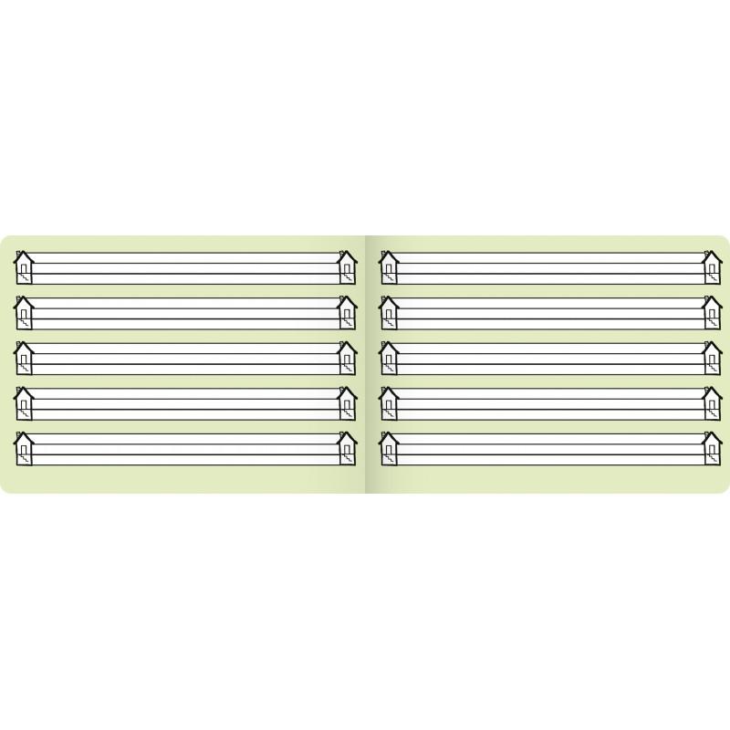 BRUNNEN Schulheft · DIN A5 · quer Lin 0 (Häuschen) · 80 g/m² · 16 Blatt