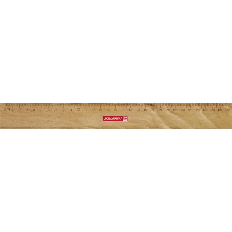 BRUNNEN Lineal 30cm Holz