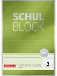 BRUNNEN Schulblock · DIN A4 · Lineatur 3 · 50 Blatt · Premium