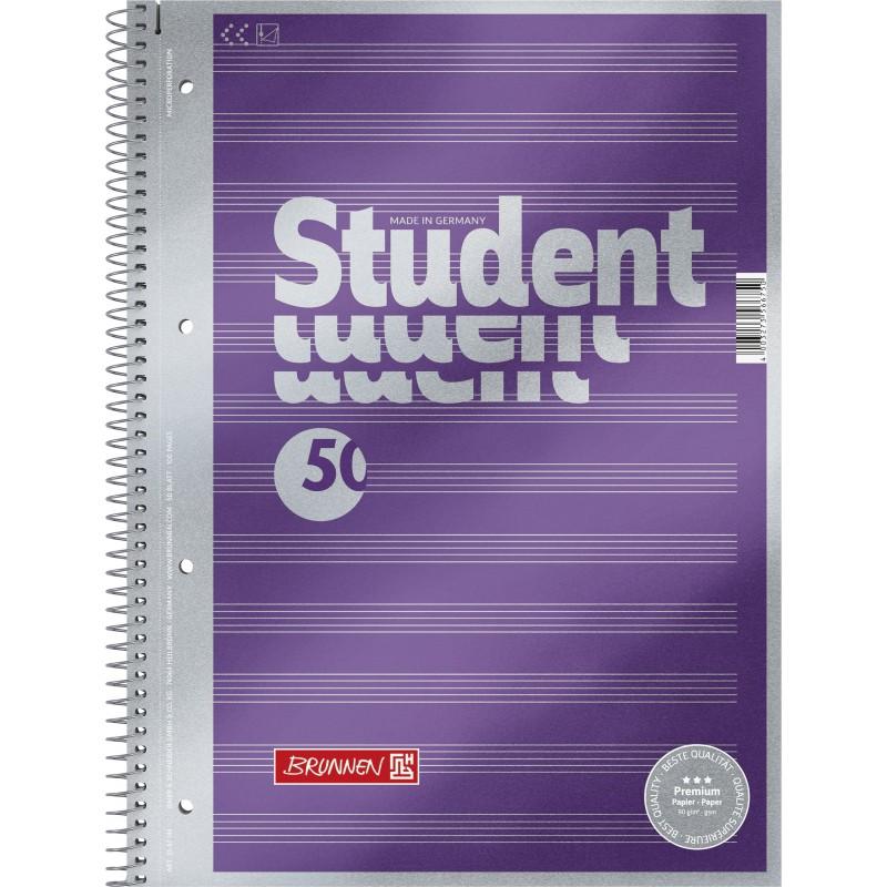 BRUNNEN Premium-Collegeblock · DIN A4 · Notenlineatur