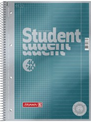 BRUNNEN Duo-Premium-Collegeblock · DIN A4 · Lineatur 27+28