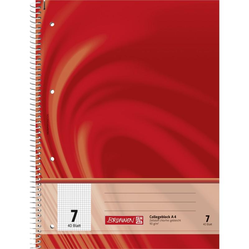 BRUNNEN Collegeblock · DIN A4 · Vivendi Lineatur 7