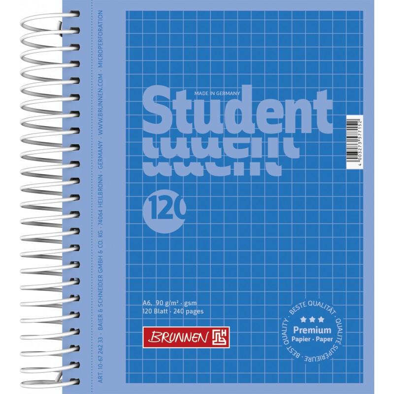 BRUNNEN Collegeblock · DIN A6 · 120 Blatt · kariert