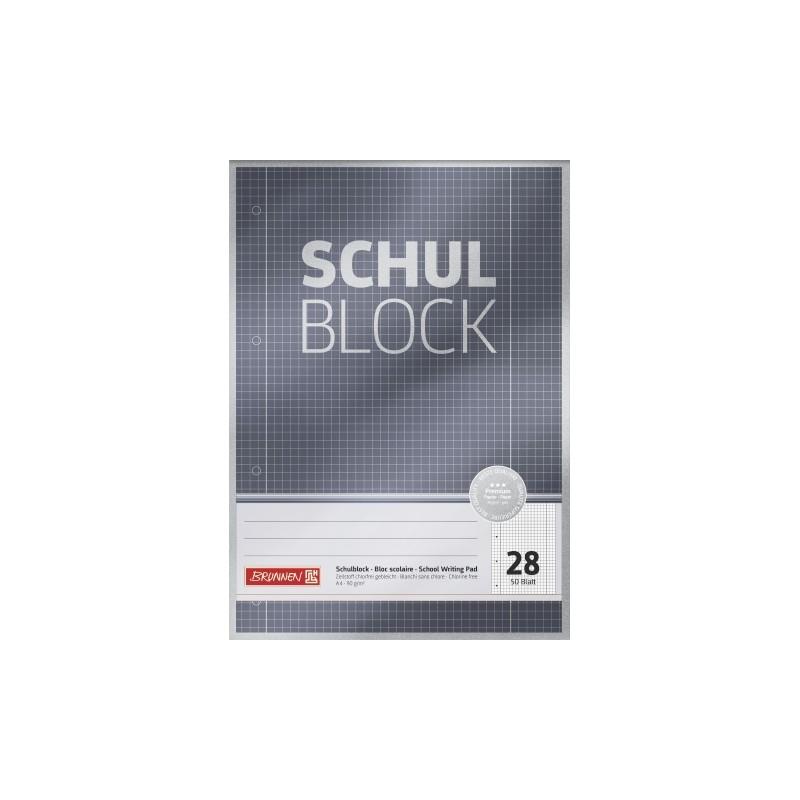 BRUNNEN Schulblock · DIN A4 · Lineatur 28 · 50 Blatt · Premium