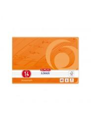 Herlitz Notenheft A5 quer · Lineatur 14 (ohne Hilfslinien) · 80 g/m² · 8 Blatt